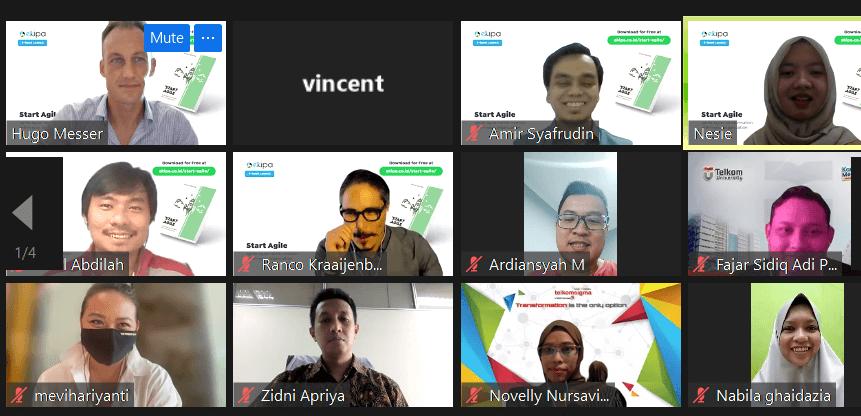 peserta peluncuran buku start agile